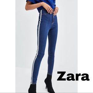 Zara Denim Shaper High Rise Skinny Jeans